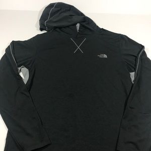 Men's North Face athletic pull over grey i8